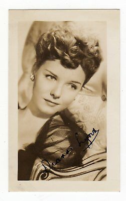 DIANA LYNN 1926-71 American actress. Small genuine signed photo