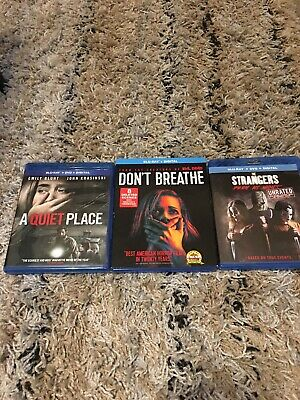 A Quiet Place Blu Ray Only, Dont Breathe Blu Ray Only, The Strangers Prey