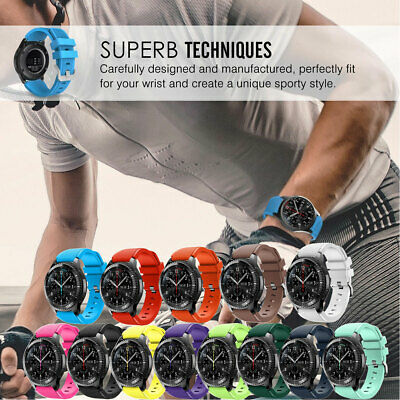 For Samsung Gear S3 Classic/Frontier 22mm Sports Watch Wrist Band Replacement