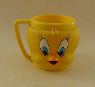 Looney Tunes Tweety Bird 3D Cup Mug Plastic 1992 Warner Bros.