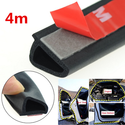 4M D Shape Rubber Seal Strip Soundproof/Dustproof For Car Front Rear Window Door
