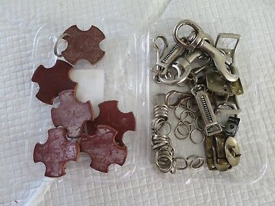Clips and Rings- Mix Chrome plated - See photos