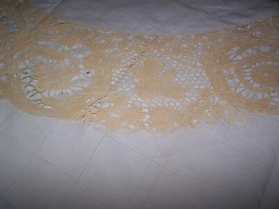 """Antique Tablecloth, from France, 66"""" wide x 106"""" long, Clean, Very Nice Piece"""