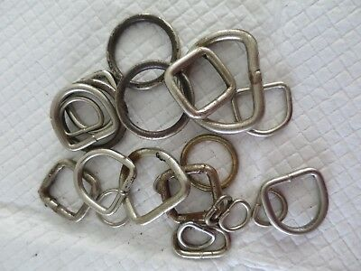 D and Rings-, Eye Mix type and size Chrome plated - Brass