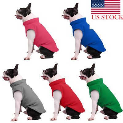 USA Pet Clothes Sweater Chihuahua Yorkie Small Dog Coat Jacket Fleece Soft Warm