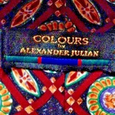 Alexander Julian Colours Mens Neck Tie Exc. Pre Owned! Vtg?