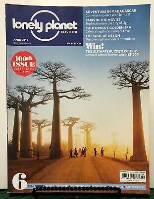 Lonely Planet Traveller UK 100th Issue Madagascar April 2017 FREE SHIPPING JB