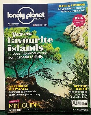 Lonely Planet Traveller UK Favorite Islands Sicily August 2017 FREE SHIPPING JB