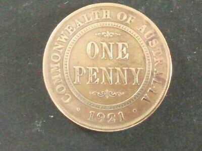 1921 Australian Penny. .Deceased Estate Find.