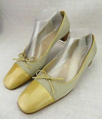 259a0baac965 Amalfi For Nordstroms Italy Tan Patent Leather Bow Cap Toe Fabric Women s  US ...