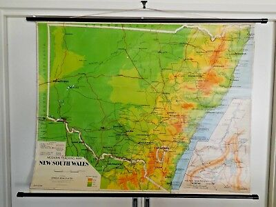 Modern Teaching Map Of N.s.w. - Chas H. Scally & Co. - 8Th Edition - Vintage