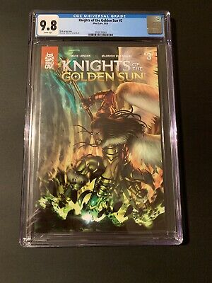 Knights Of The Golden Sun # 3 * CGC 9.8 ! * Rare Certified 9.8 ! 1st Print !