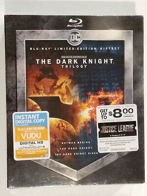 New Sealed.  The Dark Knight Trilogy Blu-ray Limited Edition Giftset