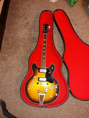 Vintage ventura early 70s sunburst 335 arch back electric guitar. Lawsuit