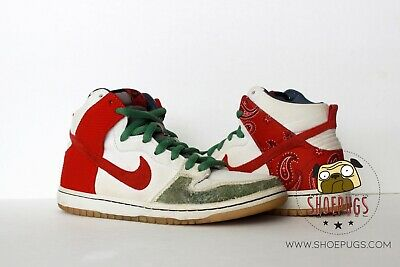 online store 1c47c 60932 2011 NIKE DUNK SB High Cheech & Chong sz 8.5 white red | TRUSTED SELLER
