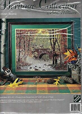 Autumn Bridge Needlepoint Kit Heritage Collection by Elsa Williams - NEW