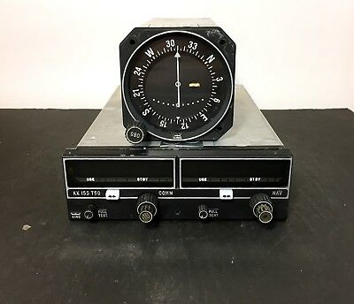 King KX155 Nav/Comm Radio 069-1024-00 With KI 208 Indicator