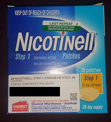 NEW Nicotinell Patches 21mg  28 Pack