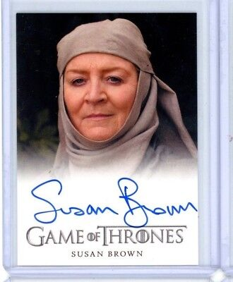 2012 Rittenhouse Game Thrones Season 1 SUSAN BROWN SEPTA MORDANE Autograph Auto