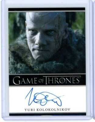 2014 Rittenhouse Game of Thrones Season 3 YURI KOLOKOLNIKOV STYR Autograph Auto