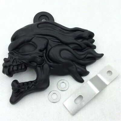 "Black Zombie head horn cover For 92-16 Harley w/side mount ""cowbell"" all V-rod's"