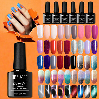 UR SUGAR UV LED Gel Nail Polish Soak off Varnish Base Top Colour Coat 7.5ml