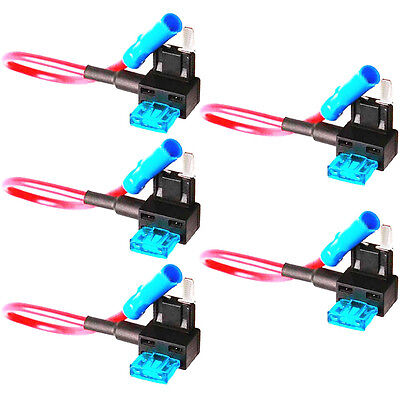 5 X Add-A-Circuit Fuse TAP Adapter Mini ATM APM Blade Fuse Holder Car WYS Sales
