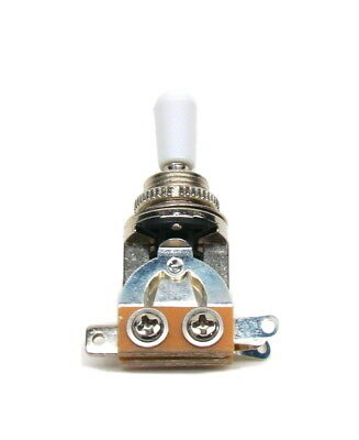 Three-Way Toggle Switch- White - Guitar Pickup Selector Switch