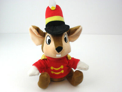 """Timothy Mouse From Dumbo Plush 9"""" Disney Parks Stuffed Animal Toy Ring Master"""