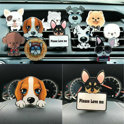 Cute Puppy Dog Car Air Freshener Conditioning Auto Vent Clip Perfume Decoration