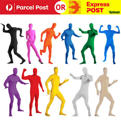 Adult Men Women Spandex Full Body Suit Costume Zentai Morph Invisible Suit AU