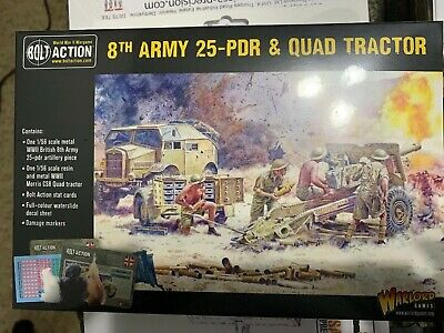Warlord Games Bolt Action 8th Army 25 Pounder Light Artillery, Quad & Limber