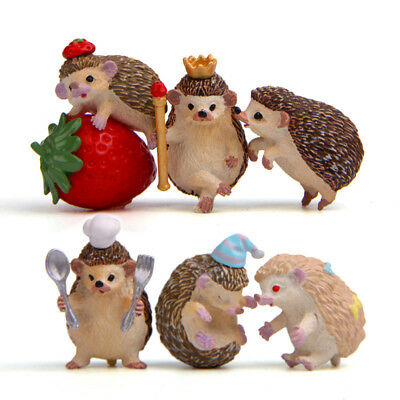 Hedgehog for Miniature Fairy Garden Ornament Dollhouse Craft Home Decor3c
