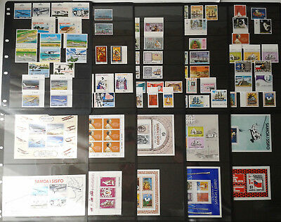 COLLECTION OF SAMOA - MIXED BULK LOT OF MINT STAMPS ON 10 x pages LQQK!