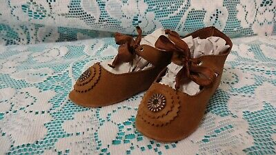 Shoes for doll,leather by Jumeau, BRU, Steiner, German doll