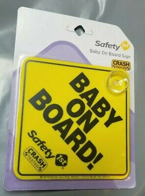 "Safety 1st ""Baby On Board!"" Sign NWT Crash Tested"