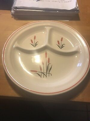universal cambridge pottery Cattail Divided Plate