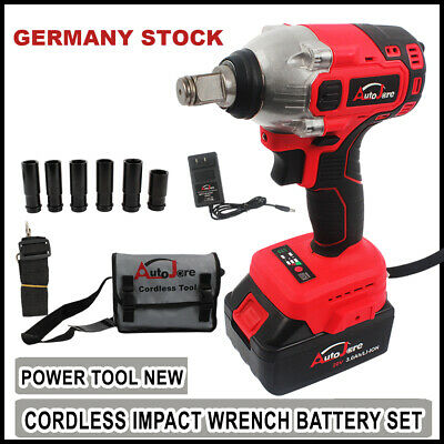 """Electric Impact Wrench 1/2"""" Cordless with Battery Sockets high TORQUE"""