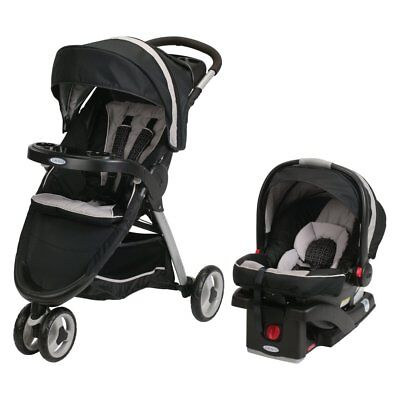 Graco Fast Action Sport Connect 35 Travel System - Pierce, Gray