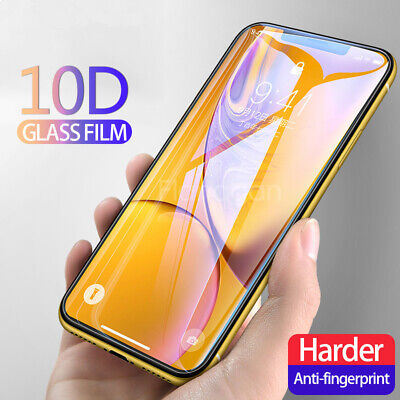 For IPhone X XS MAX XR 8 7 6 10D Full Cover Real Tempered Glass Screen Protector