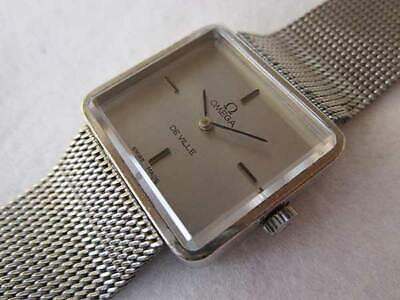 Omega De Ville Ladies Cal.625 1971 Square Manual Hand Wind Auth Women Watch Work