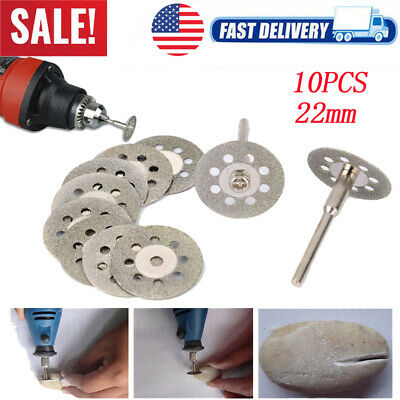 10PCS Diamond Cutting Wheel Saw Blades Cut Off Discs Set for Dremel Rotary Tool