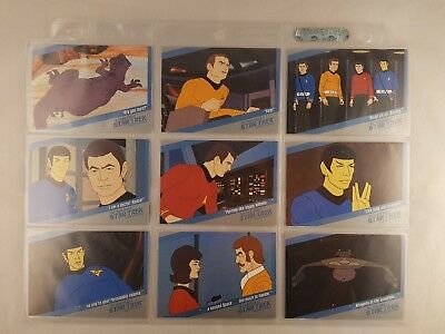 Star Trek QUOTABLE TOS ANIMATED Insert Set Complete Q1 to Q18 Odds 1:5