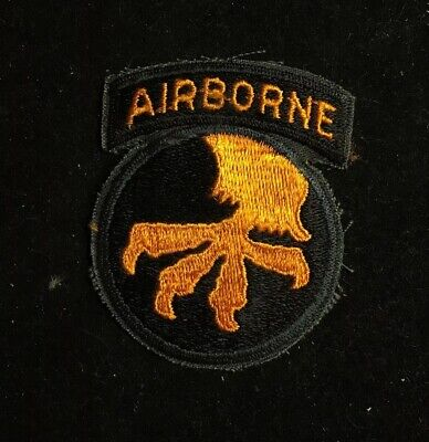 WW2 WWII US Army 17th Airborne SSI Patch And Tab Badge Insignia -  Reproduction