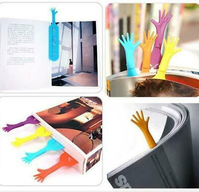 Book Marker Bookmark Hand Shape Cute Fancy Cartoon Tools For Reader 4pcs