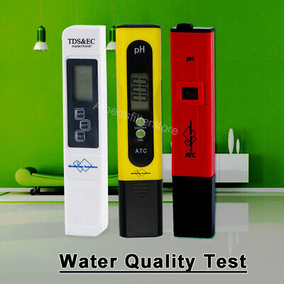 Digital Water Quality Tester-pH /TDS Meter High Accuracy Waterproof Pool Spa Lab