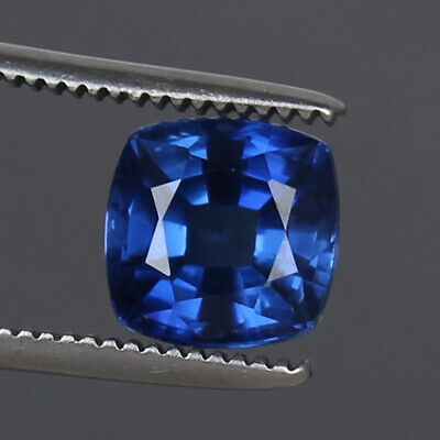Royal Blue Sapphire 5.65 Ct Natural Kashmir Square Cut Loose Gemstone Certified