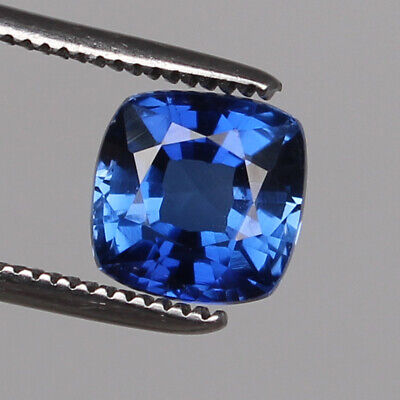 Royal Blue Sapphire 6.20 Ct Natural Kashmir Square Cut Loose Gemstone Certified