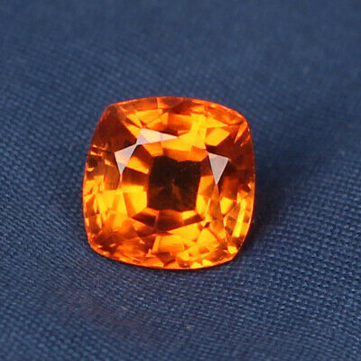 4.70 Ct. Natural Padparadscha Sapphire Ceylon Corundum Square Cut Certified Gem