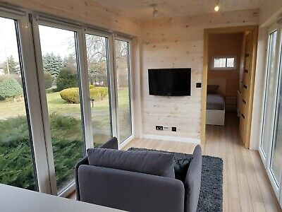Converted shipping container home; eco recycle 45 ft box house with furniture